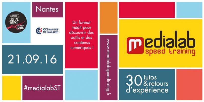 La session MédiaLab SpeedTraining de notre partenaire Ouest MédiaLab aura lieu en septembre 2016.